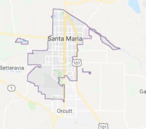 santa maria map